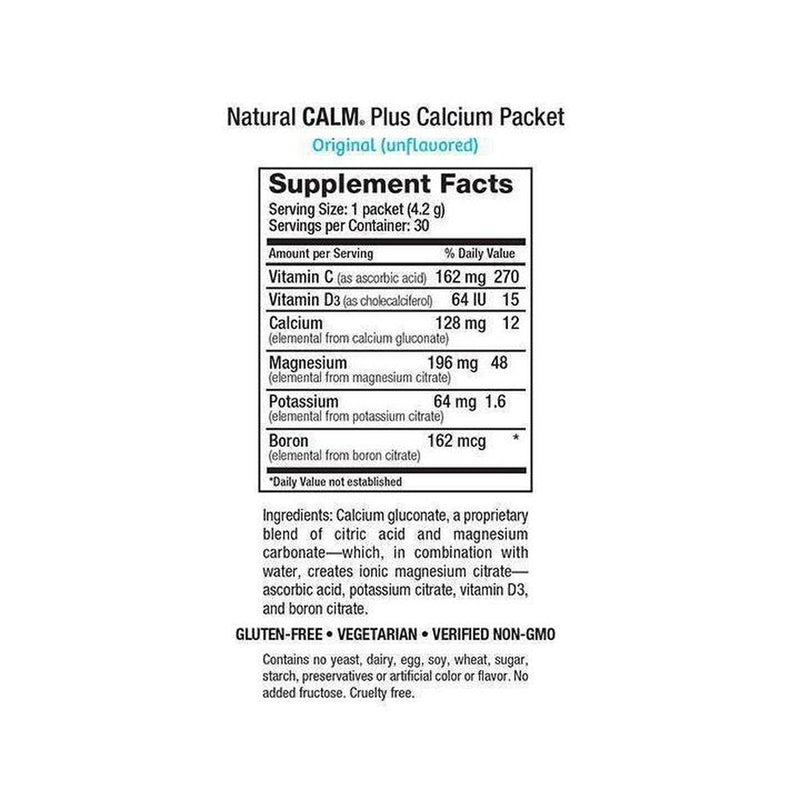 Natural Vitality, Natural Calm Plus Calcium Packets, Original (Unflavored), 30 servings-Supplements-Natural Vitality-The Store