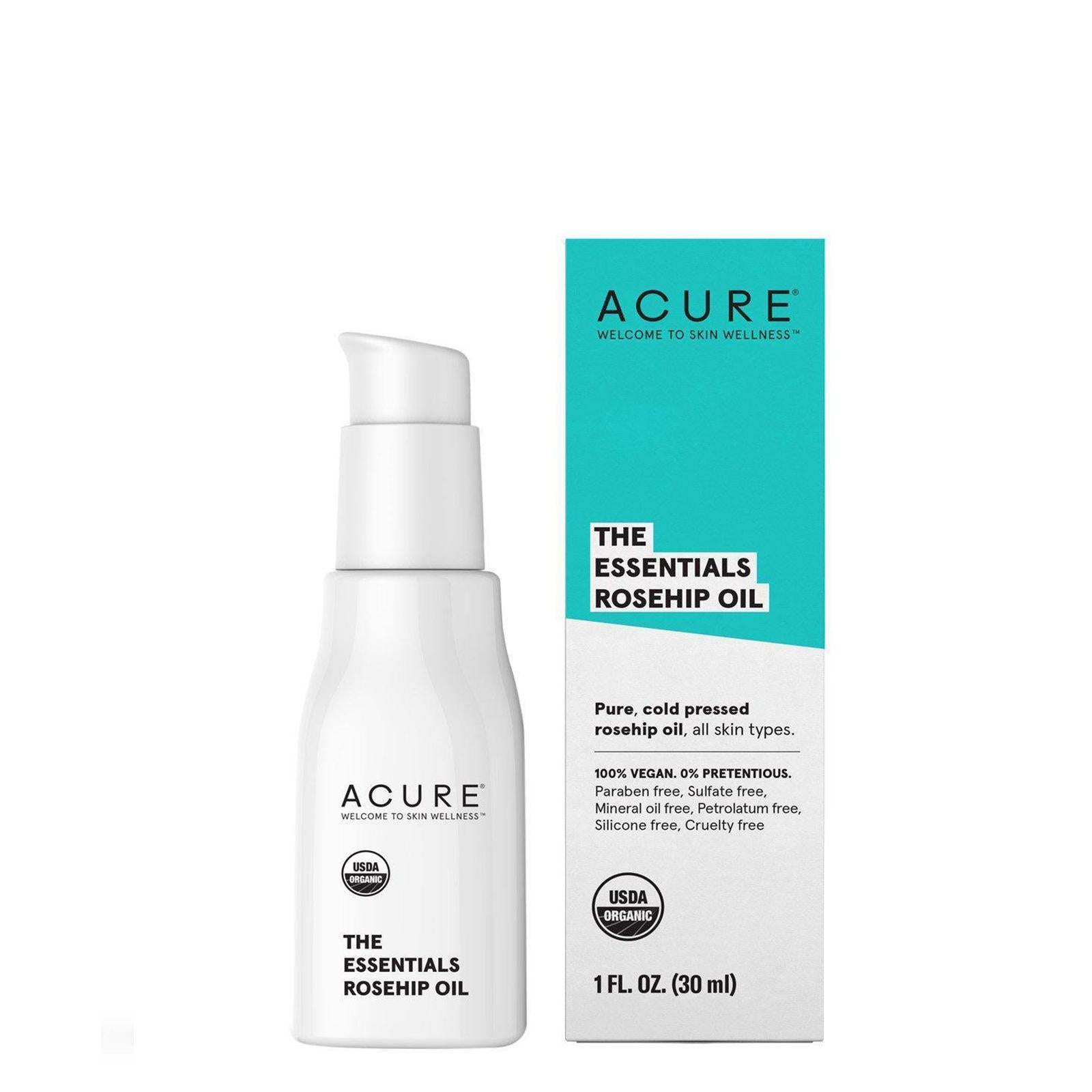 Acure, The Essentials - Rosehip Oil - All Skin Types, 1fl.oz/30ml