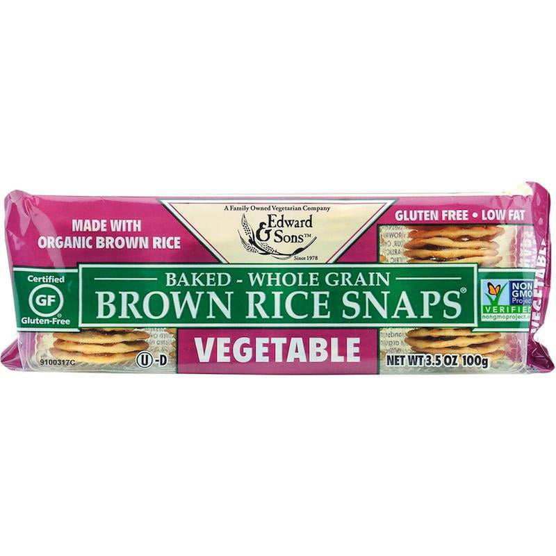 Edward & Sons, Brown Rice Snaps, Vegetable Flavour 3.5oz/100g-Groceries-Edward & Sons-The Store