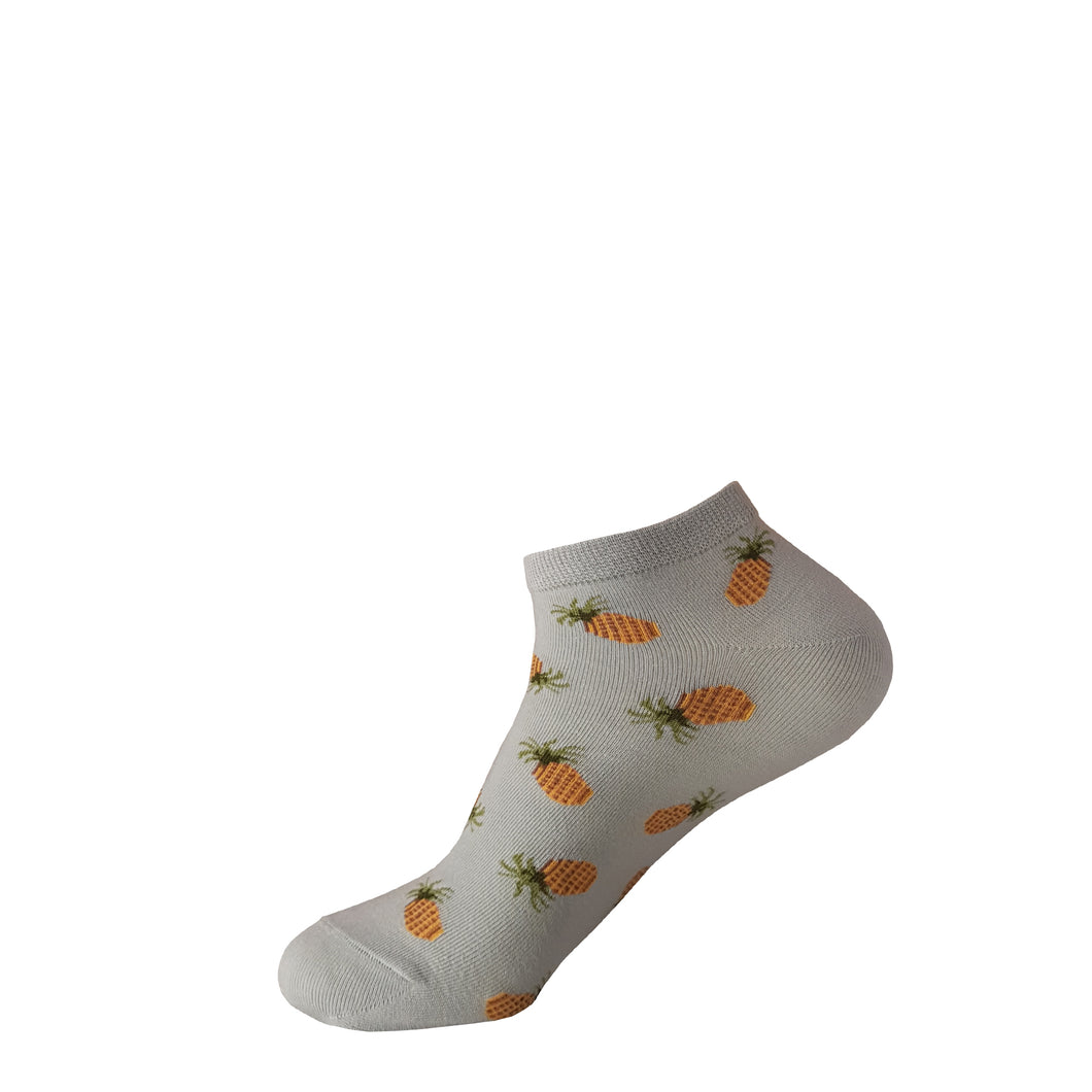 Blue Pineapple Socks - Pineapple Socks - Ankle Socks - Cute Socks - The Sock Goblin