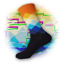 Elemental Argyle Socks - Sunrise Orange