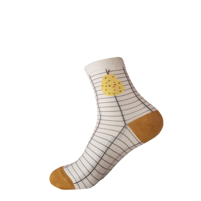 Pear Socks -  Pear Crew Socks - Cute Pear Socks - Cool Pear Socks - The Sock Goblin