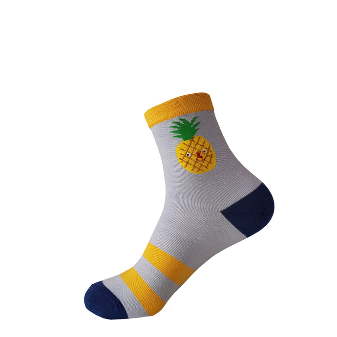 Yellow Pineapple Socks -  Pineapple Crew Socks - Cute Pineapple Socks - Cool Pineapple Socks - The Sock Goblin