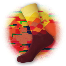 Elemental Argyle Socks - Flame Red