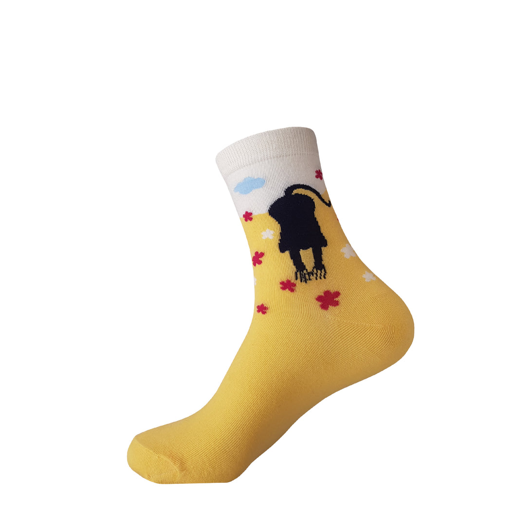 Yellow Cat Socks - Yellow Cat Crew Socks - Cute Yellow Cat Socks - Cool Yellow Cat Socks - The Sock Goblin