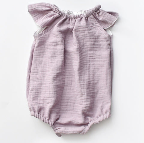 Lilac crushed double gauze Playsuit
