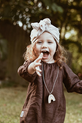 Chocolate Linen Long Sleeve Playsuit