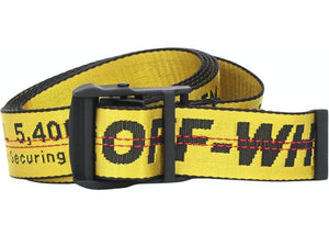 OFF-WHITE Short Industrial Belt Yellow/Black