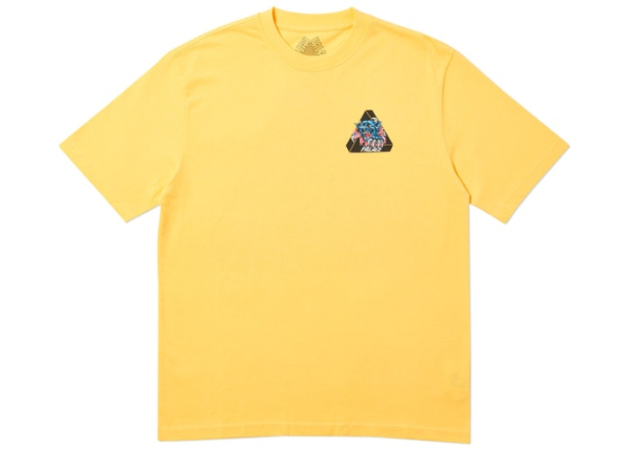 Palace Ripped T-Shirt Yellow   Supreme & Sneakers resell E-Shop - Prague-Boutique.cz