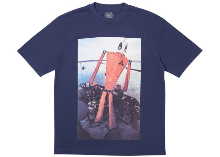 Palace Skateboards SLICK T-SHIRT NAVY   Supreme & Sneakers resell E-Shop - Prague-Boutique.cz
