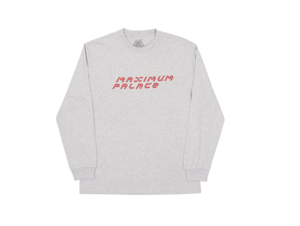 Palace Skateboards TRI-FLECT LONGSLEEVE GREY MARL   Supreme & Sneakers resell E-Shop - Prague-Boutique.cz
