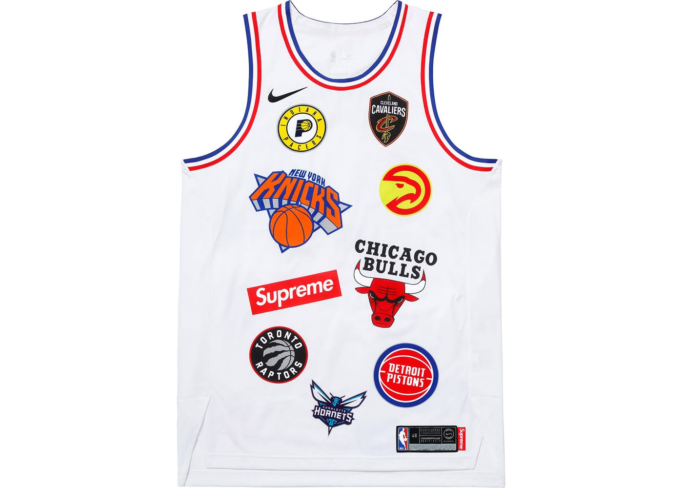 Supreme x Nike / NBA Teams Authentic Jersey White   Supreme & Sneakers resell E-Shop - Prague-Boutique.cz