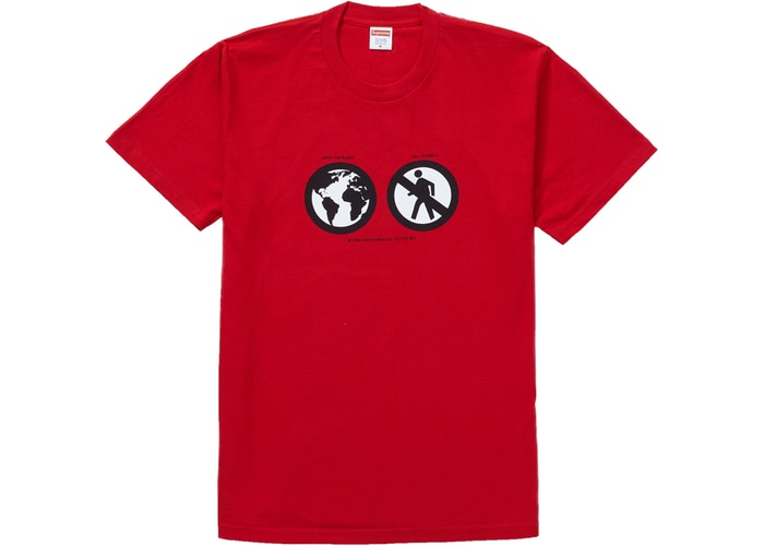 Supreme Save The Planet Tee Red   Supreme & Sneakers resell E-Shop - Prague-Boutique.cz