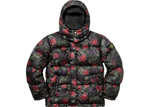 Supreme & Sneakers resell E-Shop Supreme x Stone Island Floral Lamy Nylon Puffy Jacket Black Fall / Winter 2017 Supreme - Prague-Boutique.cz