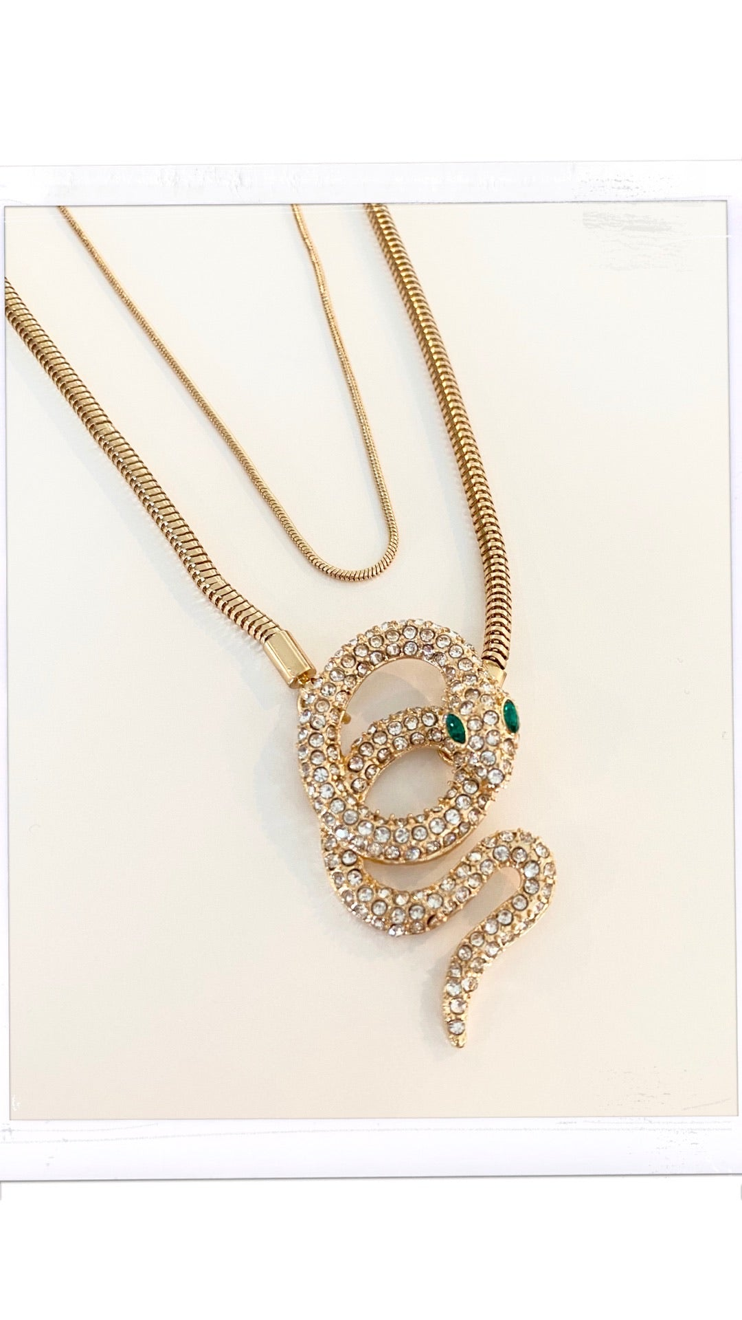 SNAKE 2 LAYER NECKLACE