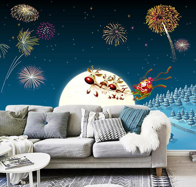 3D Christmas Eve Firework 44 Wallpaper AJ Wallpaper