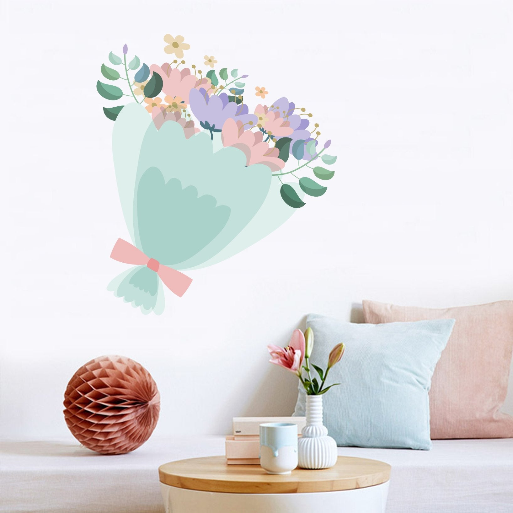 3D Bouquet Bow 156 Wall Stickers Wallpaper AJ Wallpaper