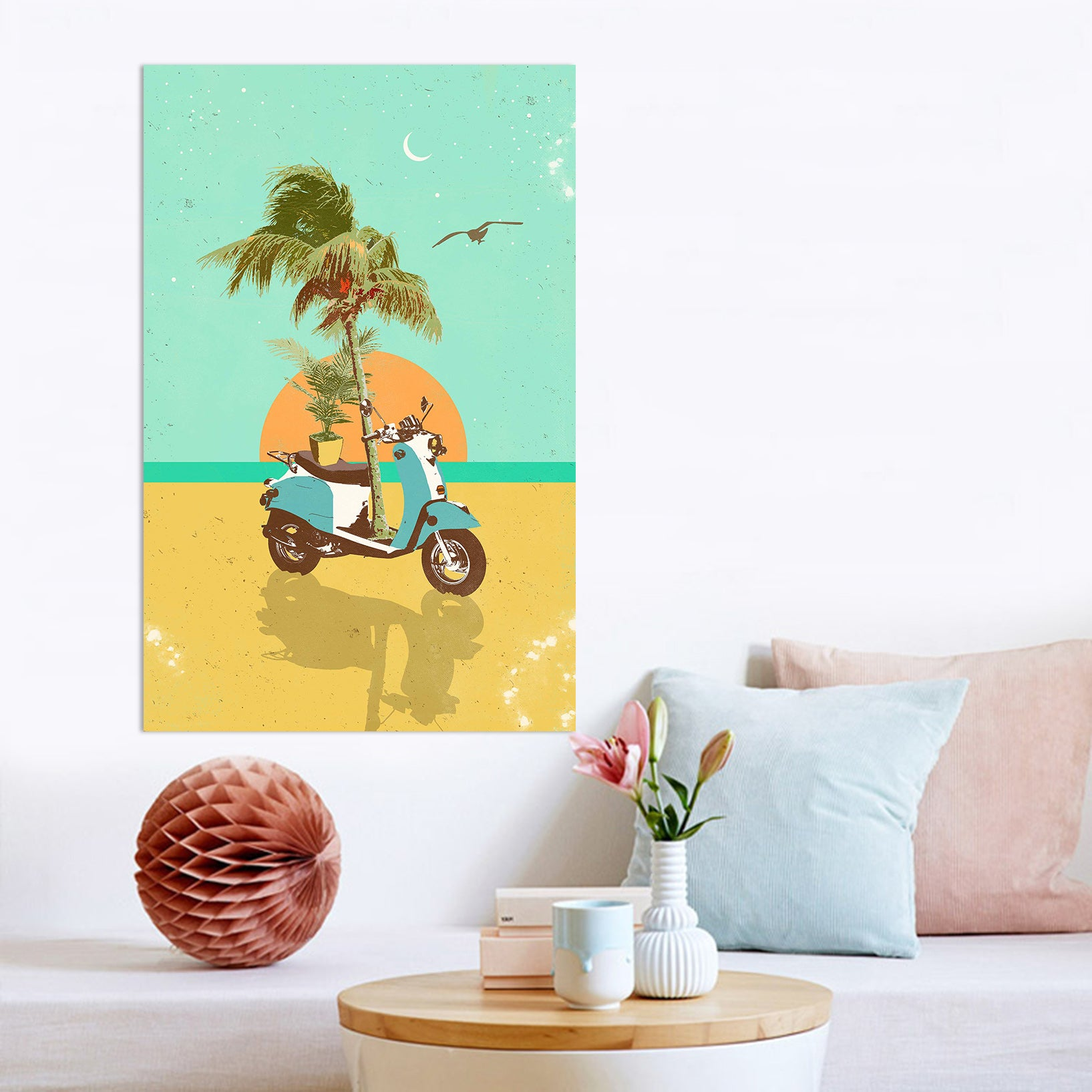 3D Sunrise By The Sea 024 Showdeer Wall Sticker