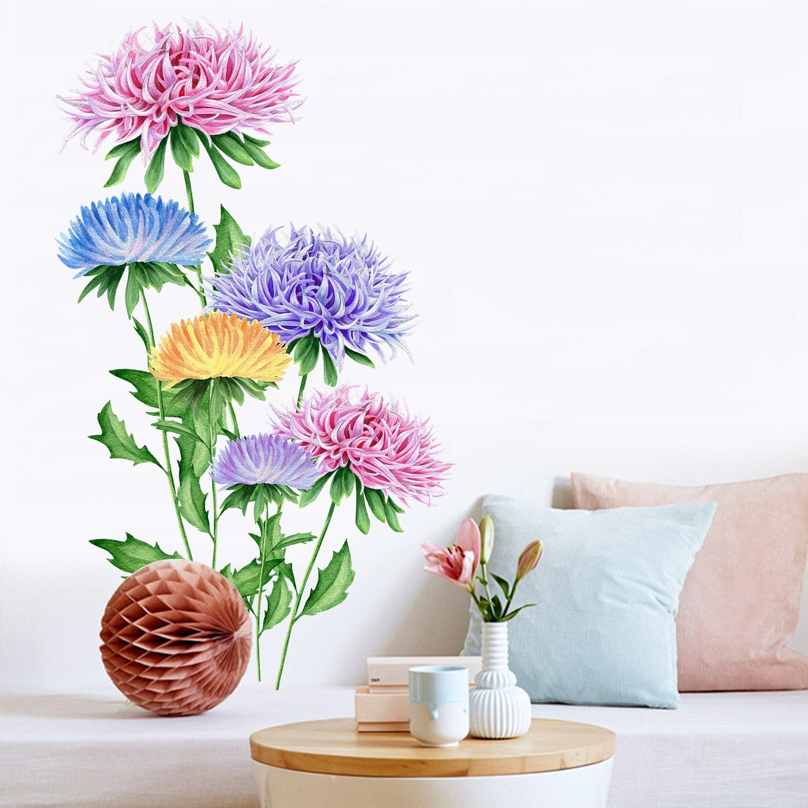 3D Beautiful Flower Blossom 046 Wall Stickers Wallpaper AJ Wallpaper