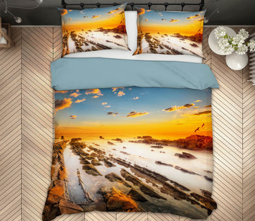 3D River Yellow Clouds 128 Marco Carmassi Bedding Bed Pillowcases Quilt