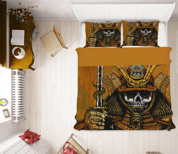 3D Skeleton General 103 David Lozeau Bedding Bed Pillowcases Quilt