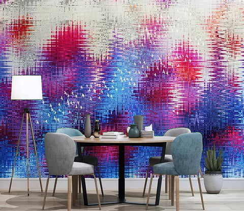 3D Abstract Blue Purple 669 Wall Murals Wallpaper AJ Wallpaper 2