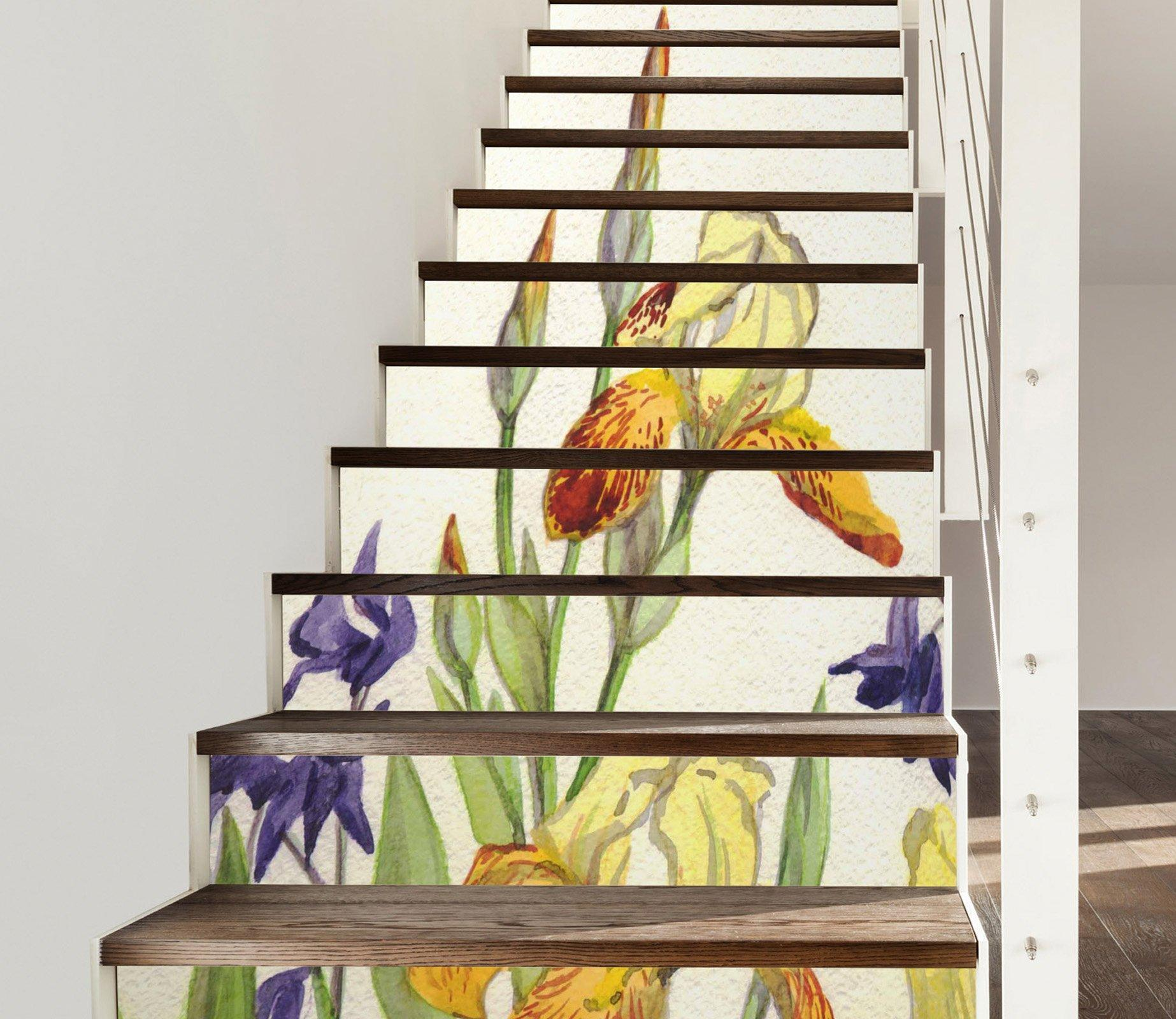 3D Flowers 772 Stair Risers Wallpaper AJ Wallpaper