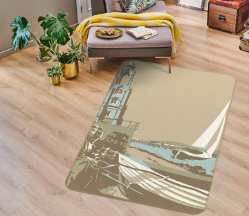 3D Swanage Tower 1158 Steve Read Rug Non Slip Rug Mat