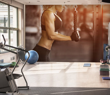 3D Lady Fitness 073 Wall Murals