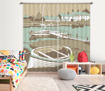 3D Southwold Harbour 151 Steve Read Curtain Curtains Drapes