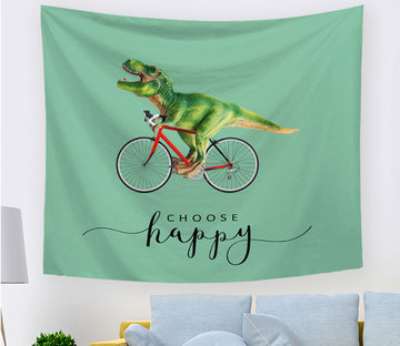3D Dinosaur Bike 2405 Tapestry Hanging Cloth Hang