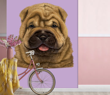 3D Wrinkle Dog 1547 Wall Murals Exclusive Designer Vincent