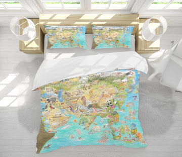 3D Animal World 021 Michael Sewell Bedding Bed Pillowcases Quilt