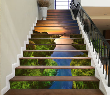 3D Calm And Picturesque Lake 637 Stair Risers