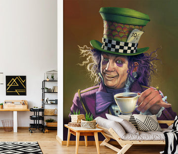 3D Mad Hatter Def 1428 Wall Murals Exclusive Designer Vincent