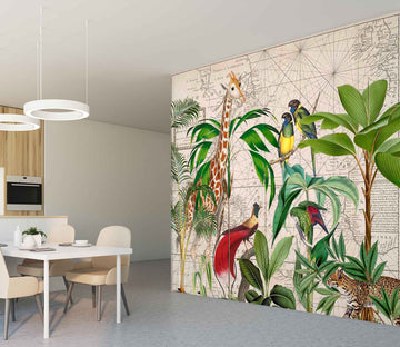 3D Palm Tree Map 1437 Andrea haase Wall Mural Wall Murals