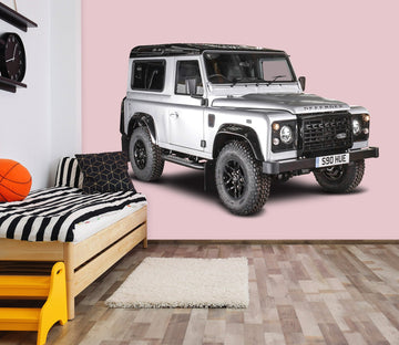 3D land Rover Defender White 0187 Vehicles