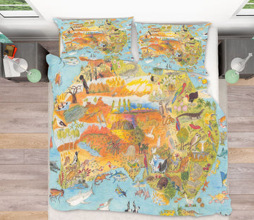3D Animal World 022 Michael Sewell Bedding Bed Pillowcases Quilt