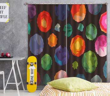 3D Colorful Balloons 041 Shandra Smith Curtain Curtains Drapes