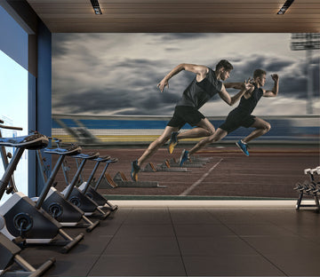 3D Race Running 312 Wall Murals