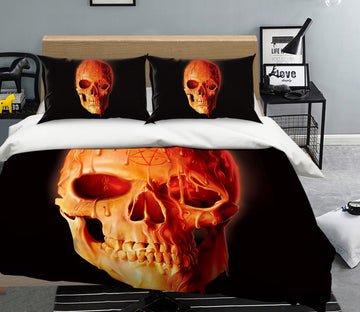 3D Wax Skull 099 Bed Pillowcases Quilt Exclusive Designer Vincent