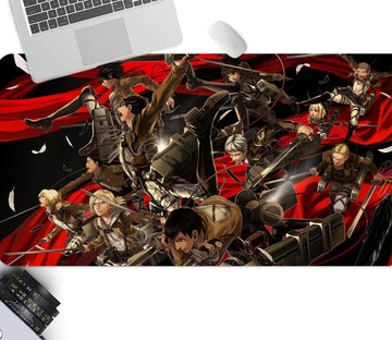 3D Attack On Titan 215 Anime Desk Mat Mat AJ Creativity Home