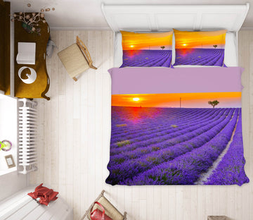 3D Valensole Lavender 165 Marco Carmassi Bedding Bed Pillowcases Quilt