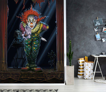 3D Surprise Clown 1555 Wall Murals Exclusive Designer Vincent