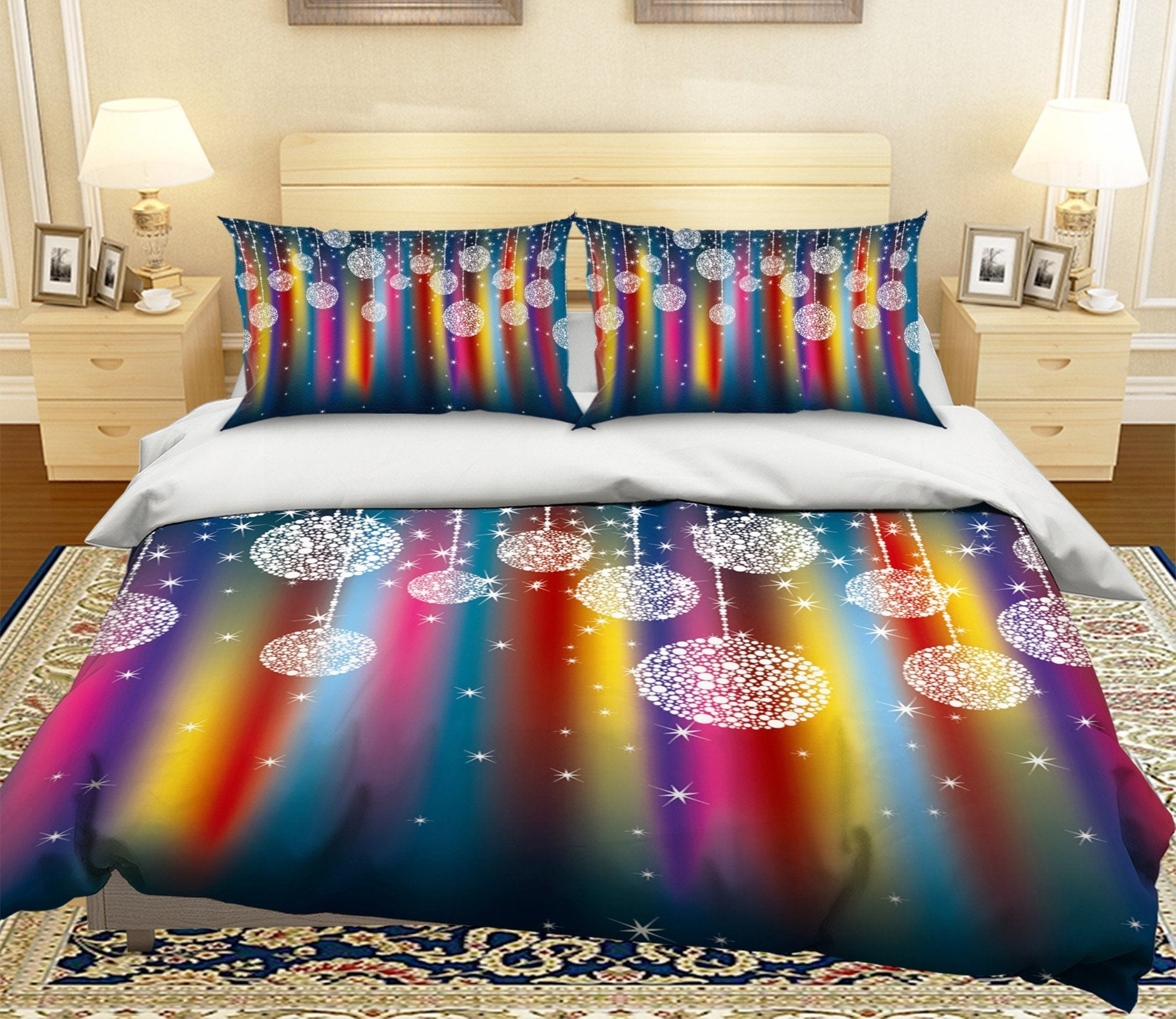 3D Colorful Crystal Ornaments 36 Bed Pillowcases Quilt Quiet Covers AJ Creativity Home