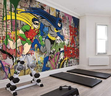 3D spray graffiti batman Wall Murals