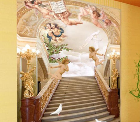 3D Angel Palace 002 Wall Murals
