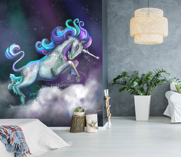 3D Cute Unicorn 1411 Rose Catherine Khan Wall Mural Wall Murals