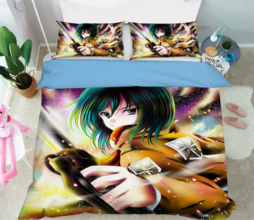 3D Attack On Titan 14 Anime Bed Pillowcases Quilt Quiet Covers AJ Creativity Home