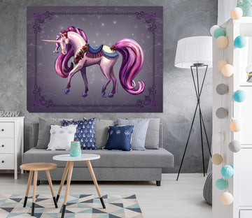 3D Cute Unicorn 114 Rose Catherine Khan Wall Sticker